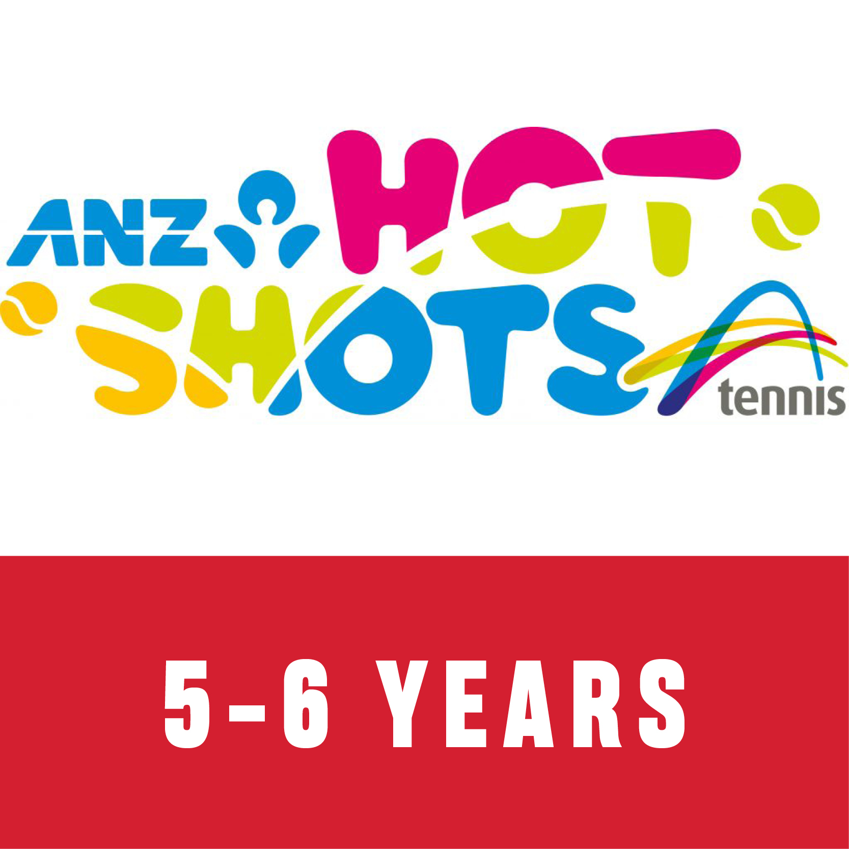 ANZ Hot Shots Red 5 to 6 years old