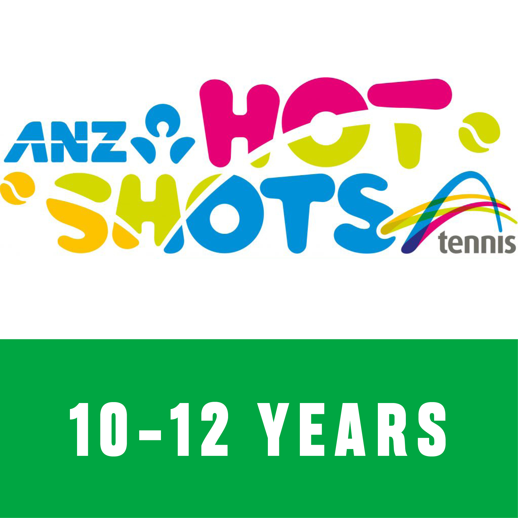 ANZ Hot Shots Green 10 to 12 years old