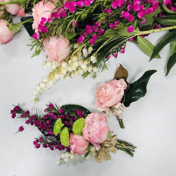 Corsage, Buttonhole, Wrist & Cake Flowers