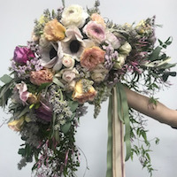 Large Trailing Wedding Bouquet