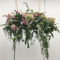 Hanging Floral Installation for Events