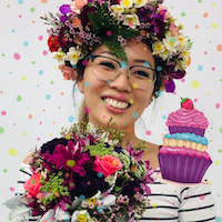 Posy, Crown and Cupcake Party