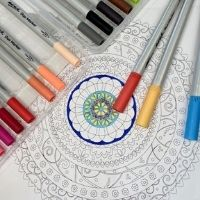 Bubbles & Brush - Mandala ~ Click here for booking page 16th July