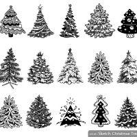 Christmas tree mixed media 4-7
