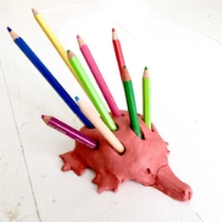 Clay Echidna Pencil Holders