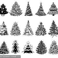 Christmas tree mixed media 8 plus