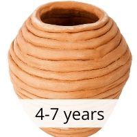 Coil Vases 4-7 yrs