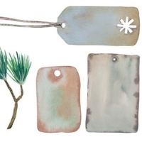 Christmas Tag and Wrapping Paper 4-7