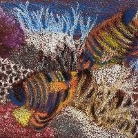 Sand paper art fish - 8+ yrs