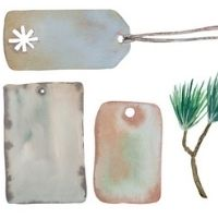 Christmas Tag and Wrapping Paper 8 plus