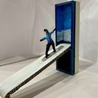 Independent School Early Break up Art Class - Snowboarder Sculpture - All Ages