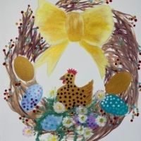 Bubbles & Brush - Easter Wreath