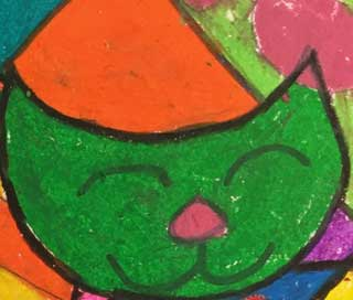 Pop Art Cats | Romero Britto Style  |  8-14 year olds |