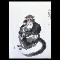 Oriental brush painting