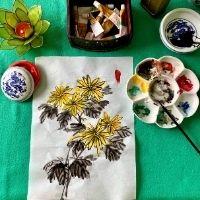 Autumn oriental brush painting - 8+yrs