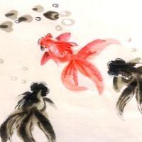 Goldfish Oriental Painting - 4-7 yrs