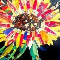 Mixed Media Sunflower 4to7