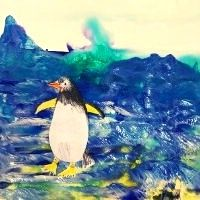Icy Penguin Landscape - 4-7 yrs