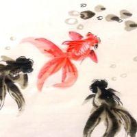 Goldfish Oriental Painting - 8+ yrs
