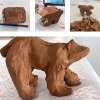 Clay Polar Bear - 4-7 yrs