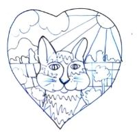 Independent School Early Break up Art Class - Heart Shaped Animal Canvas - All Ages