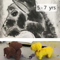 Canvas and Clay Animal Portraits 5-7 years