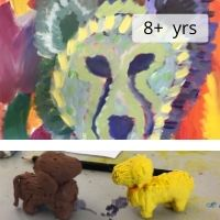Canvas and Clay Animal Portraits 8+ years