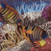 Sand paper art fish - 4-7 yrs