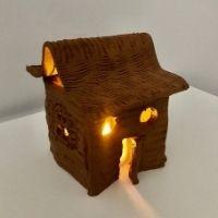 Clay Christmas tea light holder 4-7 years