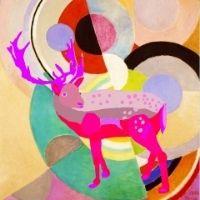 Reindeer painting 4-7