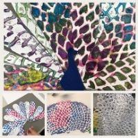 Colourful Peacocks - 8+yrs