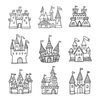 Castle Drawing 4-10 yrs
