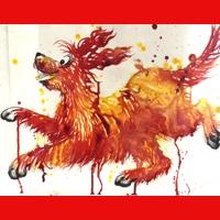 Drip Painting Animals 8+yrs