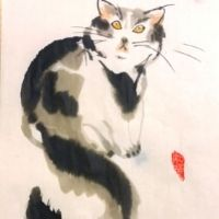 Cats Oriental Painting - 8+yrs