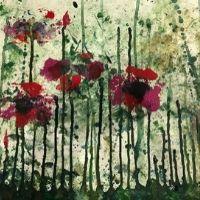 High School Workshops (12+yrs) - Drip & Paint Flower Painting