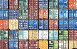 A grid of shipping containers