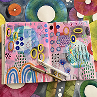 Creative art journaling and mixed media with Dominique Smallcombe - Holiday Workshop