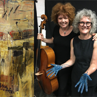 Painting with a Cello - Music Interpretation in acrylic & mixed media with Judith White