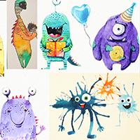 Creating Pencil Monsters with Assaf Carmeli - for ages 8-12