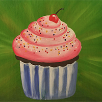 Painting Yum Yum Cupcakes - for ages 7-12