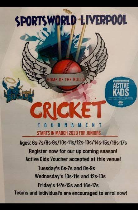 Get amongst our Junior Indoor Cricket season….