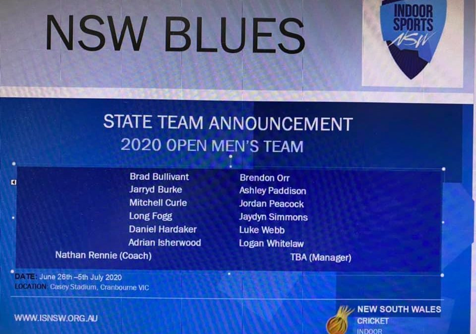 NSW MENS OPEN TEAM…