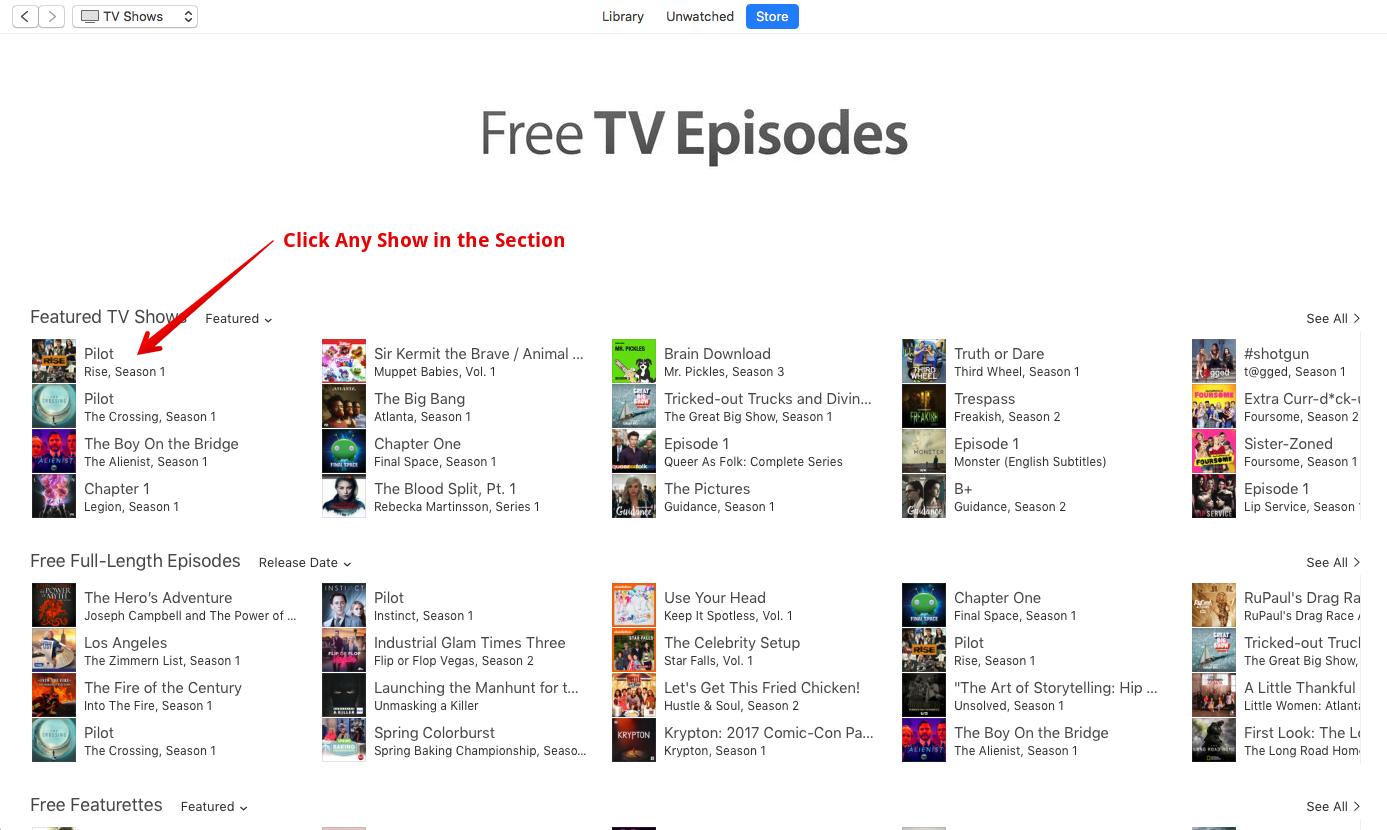Free Itunes Tv Shows