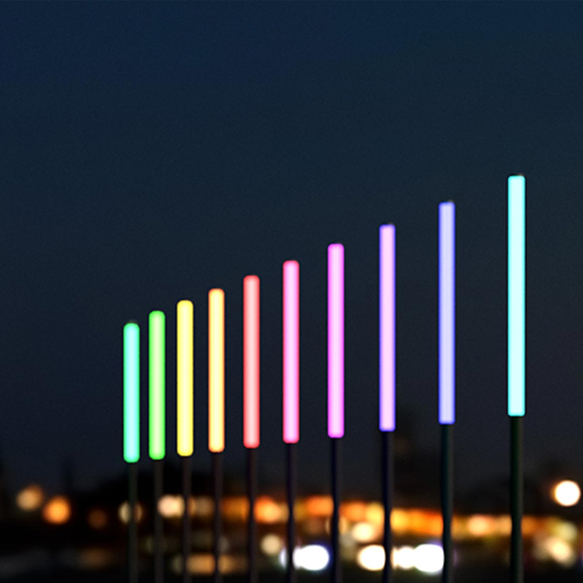 Lonsdale RGB LED Pole Mounted Colour Changing Feature Luminaire 40W per M