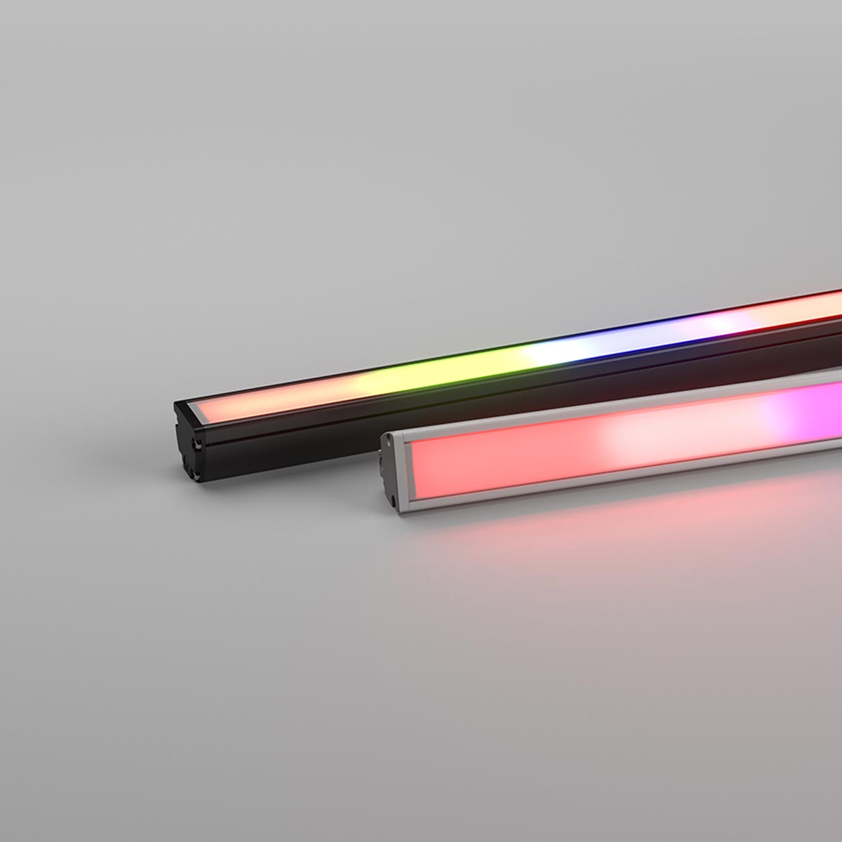 Max Mini Pixel Homogeneous Colour Changing (RGBW) Linear Luminaire with90mm Pixel Control 20W