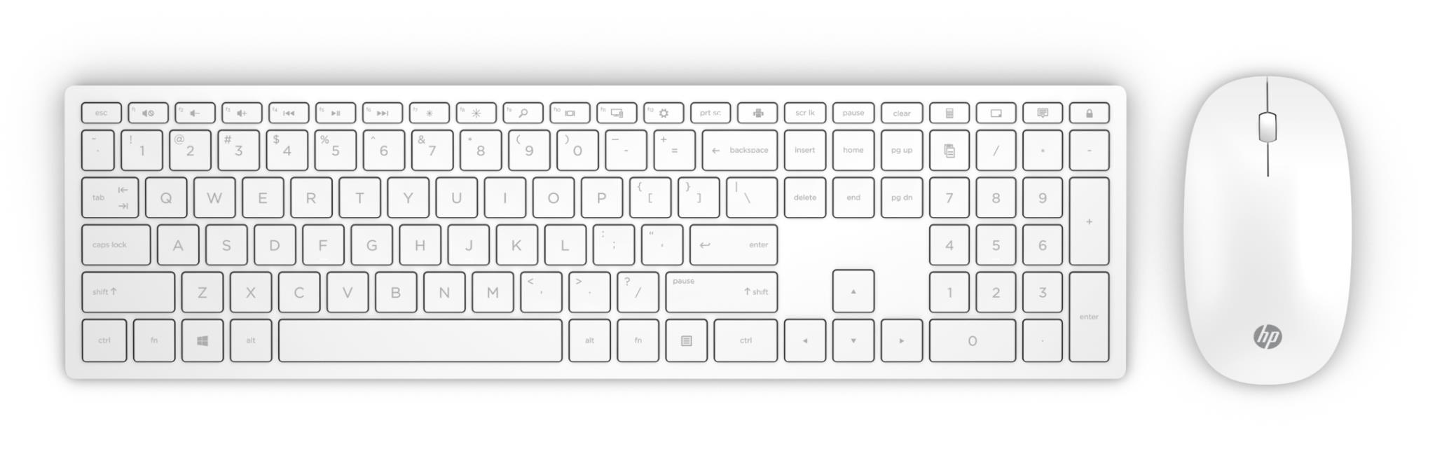 JB Education | HP Pavilion Wireless Keyboard and Mouse 800 (White)