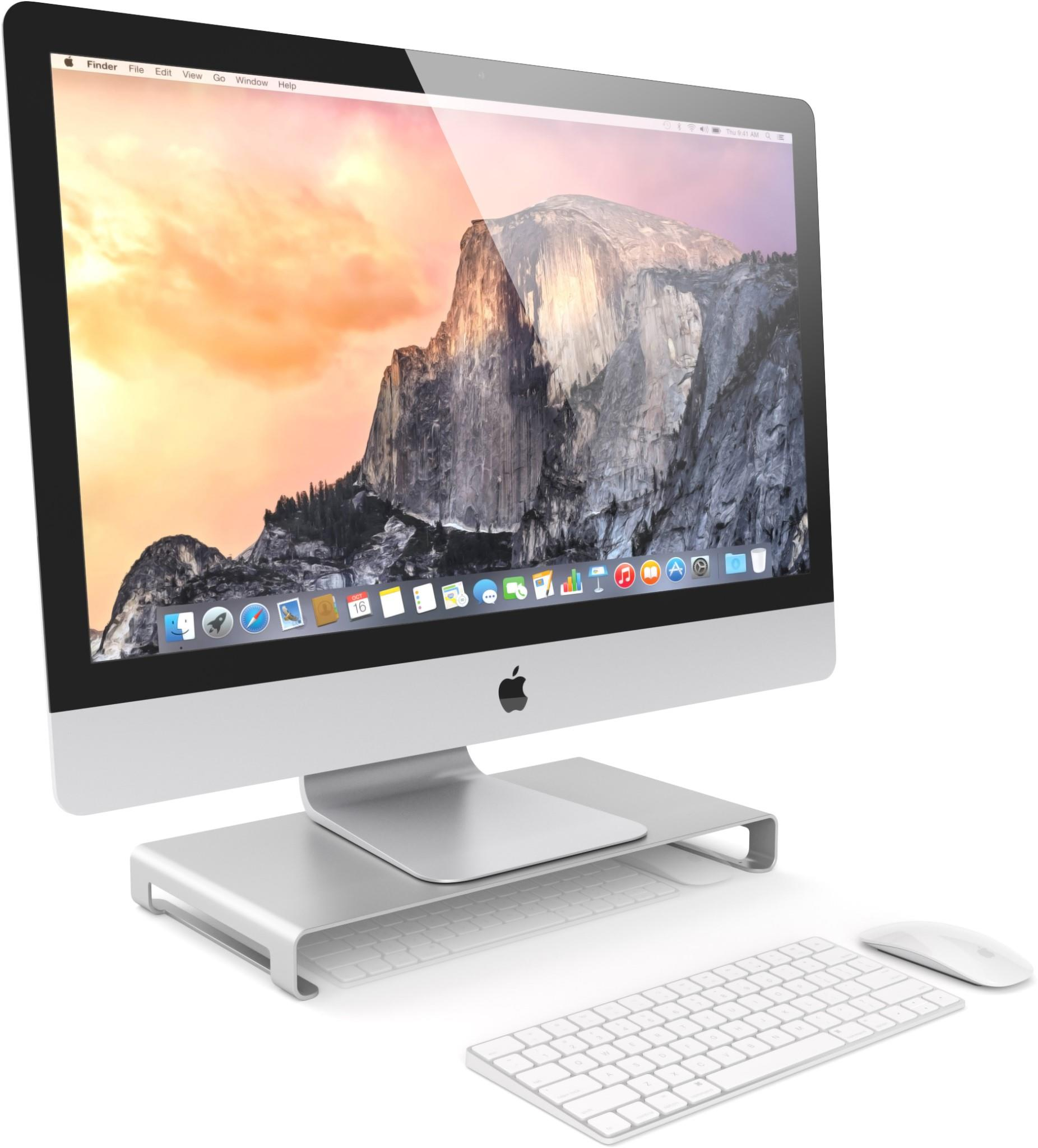 Satechi Aluminium Slim Monitor Stand for Desktop Computers Laptops up to 14kg