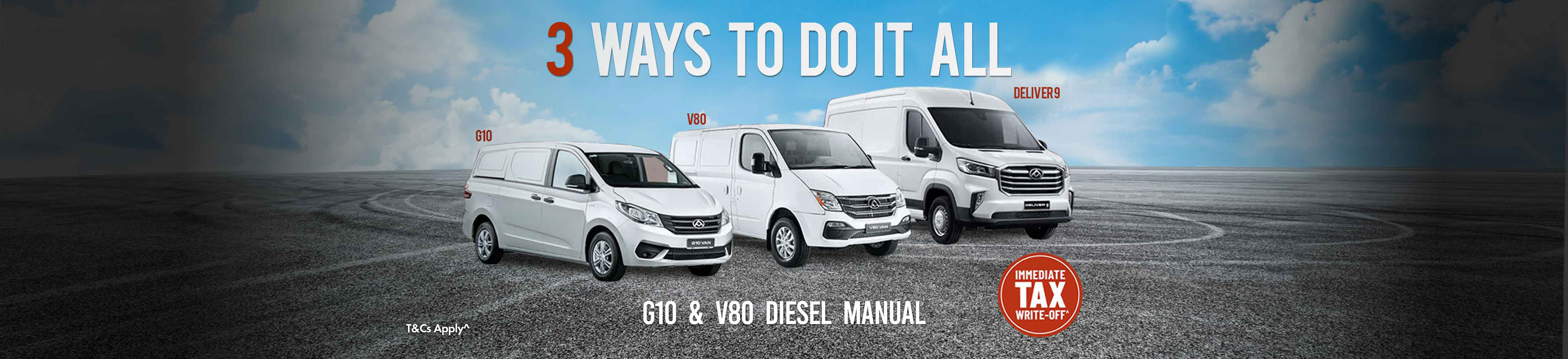 LDV vans special offers Landing Page no price