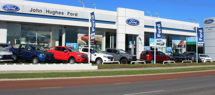 Ford dealer header