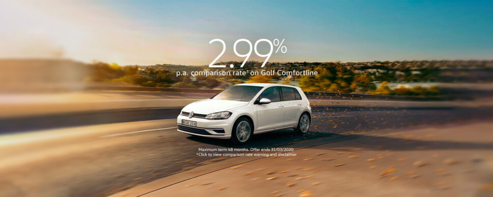 Volkswagen Golf Landing Page FINANCE 1